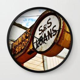 S&S Loans Wall Clock