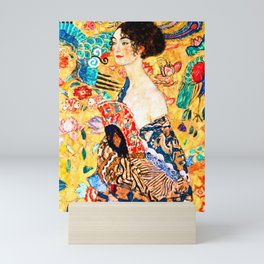 Gustav Klimt - Lady with a Fan - Dame mit Fächer - Vienna Secession Painting Mini Art Print