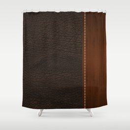 Brown leather look #1 Shower Curtain