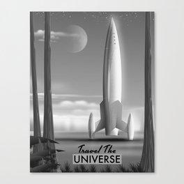 Travel The Universe Limited Edition mono print Canvas Print