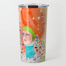 Long Neck Orange Lady Travel Mug