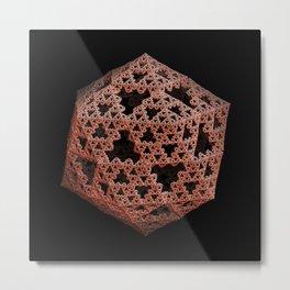 3D Fractal Icosahedron Metal Print