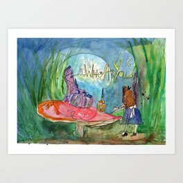 Alice and the Caterpillar Art Print