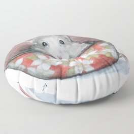 Rat in a cup Floor Pillow