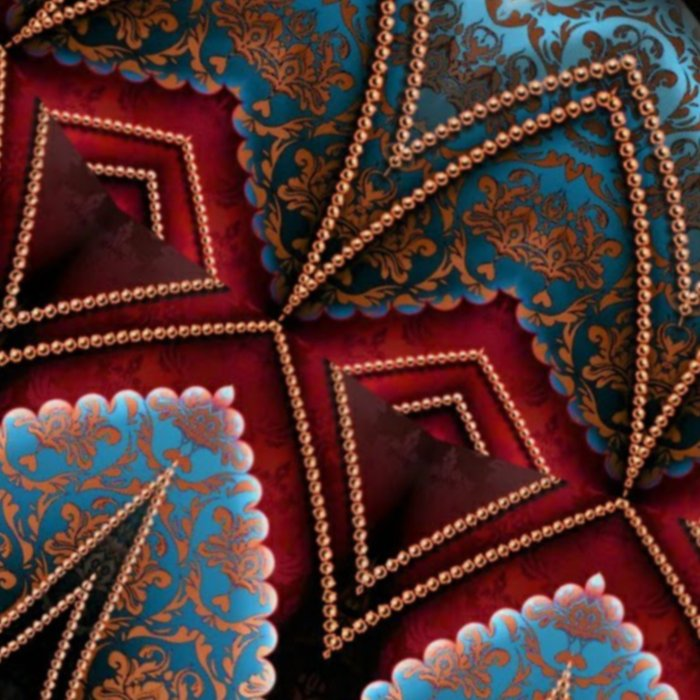 Elegant Damask Star Mandala Leggings