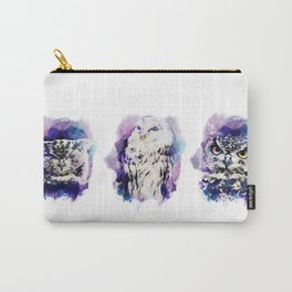 3 owl Carry-All Pouch