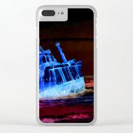 shipwreck aqrestdi Clear iPhone Case
