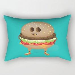 Happy Hamburger Rectangular Pillow