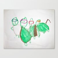 ninja turtles Canvas Prints featuring Ninja Turtles by David's mommy