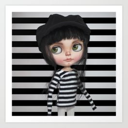 Stripes Style Blythe by Erregiro Art Print