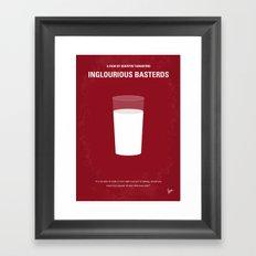 No138 My Inglourious Basterds minimal movie poster Framed Art Print