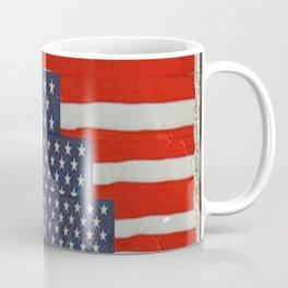 Patriotic Americana Flag Pattern Art Coffee Mug
