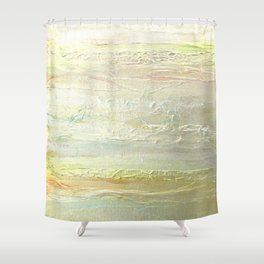 Rose Gold Silver Textures Shower Curtain