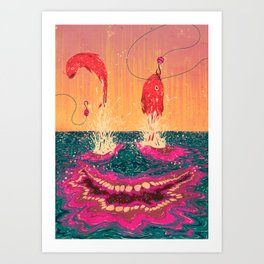 Fisgados Art Print