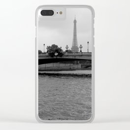 Eiffel tower and bridge, Paris, France Clear iPhone Case