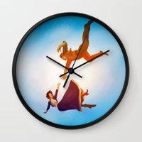 bioshock Wall Clocks featuring Bioshock Infinite by anansass