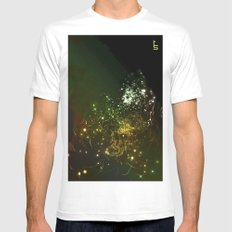 Mysterious World In the Garden Mens Fitted Tee MEDIUM White