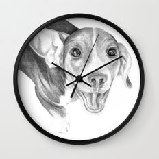 A Story To Tell :: A Beagle Puppy Wall Clock