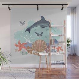 Bottlenose Dolphin Wall Mural