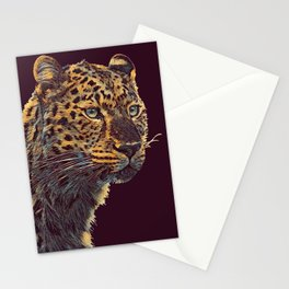 THE LEOPARD 001 - The Dark Animal Series Stationery Cards