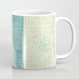 Iowa State Map Blue Vintage Coffee Mug