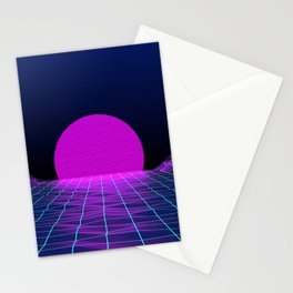80's moon Stationery Cards