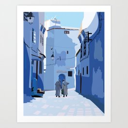 The Blue Pearl of Morocco Art Print