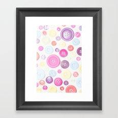 Button Love Framed Art Print