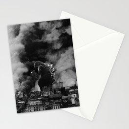 Old Time Godzilla San Francisco Fire Stationery Cards