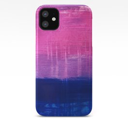 Bisexual Flag: abstract acrylic piece in pink, purple, and blue #pridemonth iPhone Case