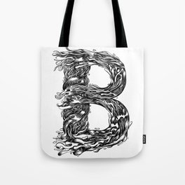 The Illustrated B Tote Bag
