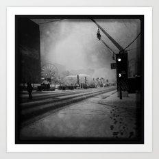 February in Montreal / Montréal en février Art Print