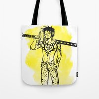 law Tote Bags featuring Trafalgar Law by Sammerdoodle Designs