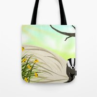 badger Tote Bags featuring Badger by TailorMade:ART