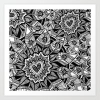 Blumen patch Art Print