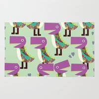 monsters Area & Throw Rugs featuring Monsters by luizavictoryaPatterns