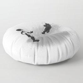 Little Black Rain Cloud Floor Pillow