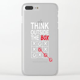 Think Outside the Box Funny Graphic T-shirt Clear iPhone Case