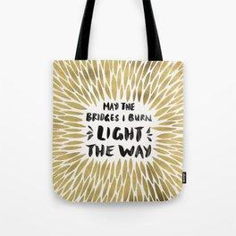Bridges Burned – Gold Tote Bag