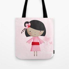 Ni Hao Little Chinese girl Tote Bag