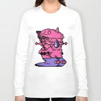 video game Long Sleeve T-shirts featuring Double Slug - Video Game Project by Studio Momo╰༼ ಠ益ಠ ༽