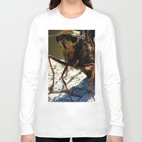 moth Long Sleeve T-shirts featuring moth by Laura Grove