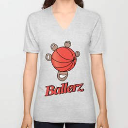Basket ballerz grip Unisex V-Neck