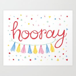 Hooray Confetti Party Art Art Print