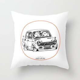 Crazy Car Art 0223 Throw Pillow