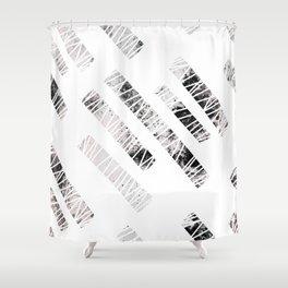 more stripes / black Shower Curtain