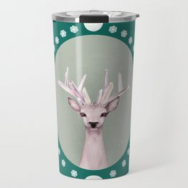 Crystal Deer Brooch Travel Mug
