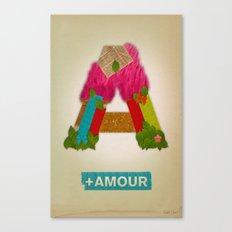 + Amour Canvas Print
