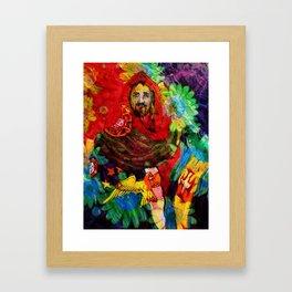 Cristo salvador de Portugal Framed Art Print