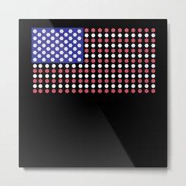 American Flag | Funny Gambling Gift Metal Print
